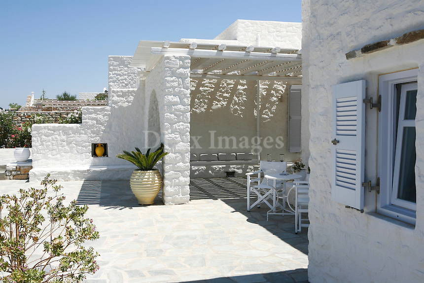 traditional cycladic terrace