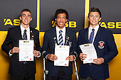 Athletics  Boys finalists Declan Wilson, Joshua Hawkins and Nicholas Souhtgate.  ASB College Sport Young Sportsperson of the Year Awards held at Eden Park, Auckland, on November 24th 2011.