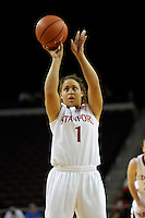 LOS ANGELES, CA - MARCH 13:  Grace Mashore during Stanford's 64-44 win over California in the Pac-10 Tournament at the Staples Center on March 13, 2010 in Los Angeles, California.
