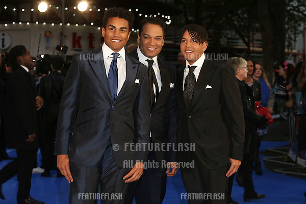 Tito Joe Jackson, Taryll Jackson, Taj Jackson of 3T at X-Men: Days Of Future Past - UK film premiere<br /> London, England. 12/05/2014 Picture by: Henry Harris / Featureflash
