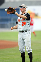 July 14th 2008:  Third baseman Tyler Kolodny of the Aberdeen Ironbirds, Class-A affiliate of the Baltimore Orioles, during a game at Dwyer Stadium in Batavia, NY.  Photo by:  Mike Janes/Four Seam Images