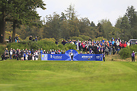 Lizette Salas of Team USA on the 2nd tee during Day 2 Foursomes at the Solheim Cup 2019, Gleneagles Golf CLub, Auchterarder, Perthshire, Scotland. 14/09/2019.<br /> Picture Thos Caffrey / Golffile.ie<br /> <br /> All photo usage must carry mandatory copyright credit (© Golffile | Thos Caffrey)