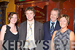 Marie Moriarty, Joe, Rosarie and Joe McGillicuddy Snr Glencar at the Mid Kerry County Championship celebration social in the Killarney Avenue Hotel on Saturday night
