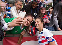 Houston, TX - April 8, 2018: The USWNT defeated Mexico 6-2 during an international friendly at BBVA Compass Stadium.