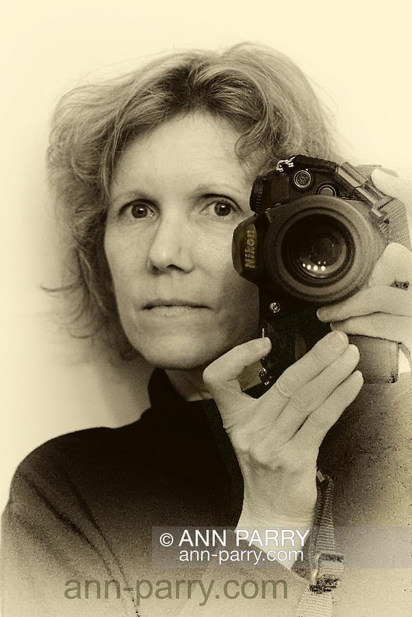 Self-Portrait with Nikon, sepia