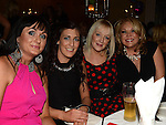 Gwen Lynch, Emma Flynn, Joyce Shelbourne and Sarah Woods pictured at Alan Kearns' 40th birthday in the Westcourt hotel. Photo:Colin Bell/pressphotos.ie