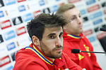 Spain's Javi Martinez (l) and Gerard Deulofeu in press conference after training session. March 22,2017.(ALTERPHOTOS/Acero)