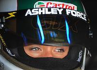 Jan 24, 2009; Chandler, AZ, USA; NHRA funny car driver Ashley Force during testing at the National Time Trials at Firebird International Raceway. Mandatory Credit: Mark J. Rebilas-