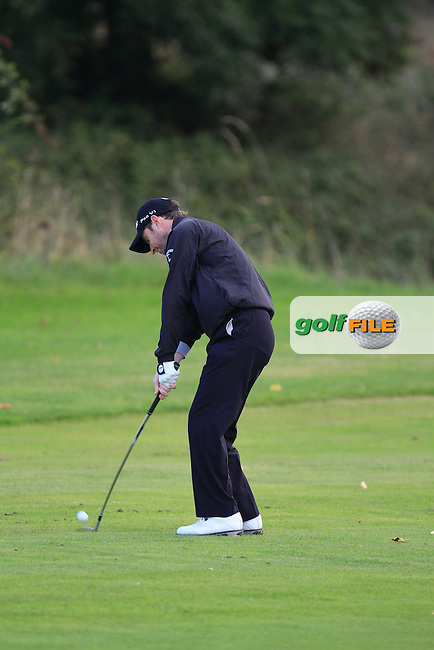 Daniel Sugrue (Killarney Golf &amp; Fishing Club) on the 8th during Round 2 of The Cassidy Golf 103rd Irish PGA Championship in Roganstown Golf Club on Friday 11th October 2013.<br /> Picture:  Thos Caffrey / www.golffile.ie