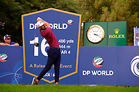 Erik Van Rooyen (RSA) on the 16th tee during the 1st round of the DP World Tour Championship, Jumeirah Golf Estates, Dubai, United Arab Emirates. 21/11/2019<br /> Picture: Golffile | Fran Caffrey<br /> <br /> <br /> All photo usage must carry mandatory copyright credit (© Golffile | Fran Caffrey)