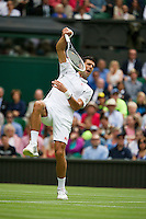 25-06-13, England, London,  AELTC, Wimbledon, Tennis, Wimbledon 2013, Day two, Novak Djokovic (SRB)<br /> <br /> <br /> <br /> Photo: Henk Koster
