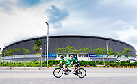 Picture by Alex Whitehead/SWpix.com - 21/03/2018 - Cycling - 2018 UCI Para-Cycling Track World Championships - Rio de Janeiro Municipal Velodrome, Barra da Tijuca, Brazil - Preview. Ireland's Eve McCrystal and Katie-George Dunlevy.