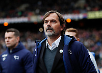 5th January 2020; Selhurst Park, London, England; English FA Cup Football, Crystal Palace versus Derby County; Derby County Manager Phillip Cocu - Strictly Editorial Use Only. No use with unauthorized audio, video, data, fixture lists, club/league logos or 'live' services. Online in-match use limited to 120 images, no video emulation. No use in betting, games or single club/league/player publications