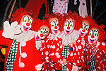 """During the """"Catch the Glow"""" Christmas Parade, a couple of people were caught """"clowning around"""", in Estes Park, Colorado."""