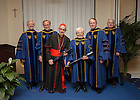 Jan. 27, 2014; The University of Notre Dame conferred an honorary Doctor of Laws degree on His Eminence Jean-Louis Cardinal Tauran and Maria Voce at the Notre Dame Rome Centre.<br />