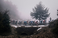 peloton in the mist<br /> <br /> 76th Paris-Nice 2018<br /> Stage 7: Nice &gt; Valdeblore La Colmiane (175km)