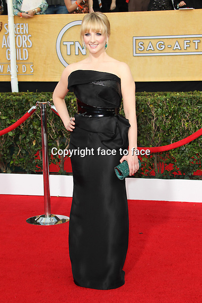 LOS ANGELES, CA - JANUARY 18: Melissa Rauch attending the 2014 SAG Awards in Los Angeles, California on January 18, 2014.<br /> Credit: RTNUPA/MediaPunch<br />