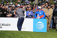 Jordan Spieth (USA) tees off the 6th tee at Pebble Beach Golf Links during Saturday's Round 3 of the 2017 AT&amp;T Pebble Beach Pro-Am held over 3 courses, Pebble Beach, Spyglass Hill and Monterey Penninsula Country Club, Monterey, California, USA. 11th February 2017.<br /> Picture: Eoin Clarke | Golffile<br /> <br /> <br /> All photos usage must carry mandatory copyright credit (&copy; Golffile | Eoin Clarke)