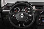 Car pictures of steering wheel view of a 2015 Volkswagen Caddy Maxi Dark & Cool 5 Door Mini Mpv Steering Wheel