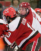 Dan Ford (Harvard - 5) - The Harvard University Crimson defeated the St. Lawrence University Saints 4-3 on senior night Saturday, February 26, 2011, at Bright Hockey Center in Cambridge, Massachusetts.