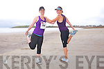 Róisín and Sinead Breen at the The Brandon Bay half marathon and 10k run, Ireland's first and only running event entirely run on a beach,  in the Maharees, Castlegregory,  on Saturday