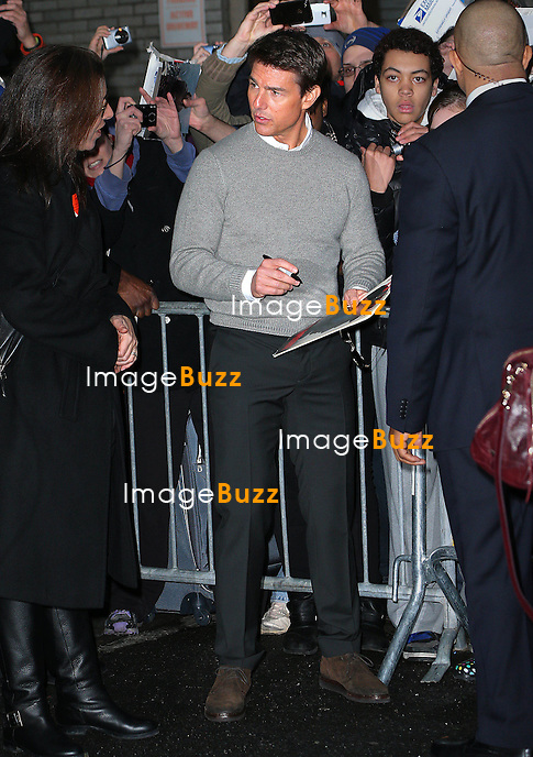 Tom Cruise arrives at The Late Show in New York City..New York, December 17, 2012.