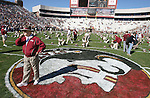 Florida Statew head coach Bobby Bowden watches thew Florida Gators warm up prior to their NCAA football game at Bobby Bowden Field in Tallahassee, Florida November 25, 2006.  The Gators defeated the Seminoles 21-14. (Mark Wallheiser/TallahasseeStock.com)