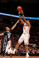 Ohio State Buckeyes forward LaQuinton Ross (10) shoots over Penn State Nittany Lions guard Tim Frazier (23) in the first half at Value City Arena in Columbus Jan. 29, 2013 (Dispatch photo by Eric Albrecht)