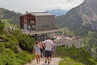 Bergstation der Jenner-Seilbahn - Berchtesgaden 17.07.2019: Fahrt auf den Jenner