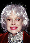 Carol Channing attends 1997 Tony Awards at Radio City Music Hall in<br /> NYC at June 1, 1997