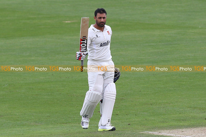 Ravi Bopara of Essex celebrates his century, 100 runs - Kent CCC vs Essex CCC - LV County Championship Division Two Cricket at the St Lawrence Ground, Canterbury - 08/06/14 - MANDATORY CREDIT: Gavin Ellis/TGSPHOTO - Self billing applies where appropriate - 0845 094 6026 - contact@tgsphoto.co.uk - NO UNPAID USE