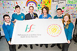 Mercy Mounthawk who were awarded the flag from the HSE for all the health promotion's and activities over the year's on a whole school capacity.In the picture are Carla Hannafin, Conor O'Donoghue, Pat Fleming (Deputy Principal),Berni O'Shea (Co-ordinator), Christian Keane and Emer Nolan