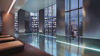 BNPS.co.uk (01202 558833)<br /> Pic: SothebysRealty/BNPS<br /> <br /> Take in the city as you relax in the pool. <br /> <br /> Is this the best view in London ...<br /> <br /> A stunning apartment offering a breathtaking panorama of the nation's capital has emerged for sale for £900,000.<br /> <br /> The stylish one bedroom flat is located on the 43rd floor of the new-build 704ft Valiant Tower in South Quay Plaza in Canary Wharf.<br /> <br /> It overlooks Greenwich and the River Thames, with London's major landmarks on display.<br /> <br /> The building has a rooftop terrace, a swimming pool and a gym, and is surrounded by waterside gardens.<br /> <br /> The flat is being sold with estate agent Sotheby's International Realty.