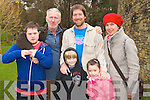 Pictured at the Circus Festival at Siamsa Tire on Saturday were from left: Cathal Doyle, Martin Dowling, Noah Edwards, John Edwards, Eppie Edward and Yolanda Verplanke..