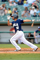 New Orleans Zephyrs second baseman Wilson Valdez #10 during a game against the Round Rock Express on April 15, 2013 at Zephyr Field in New Orleans, Louisiana.  New Orleans defeated Round Rock 3-2.  (Mike Janes/Four Seam Images)