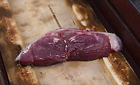 A very good example of tuna without fatty deposits.