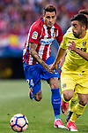 Jose Maria Gimenez de Vargas of Atletico de Madrid (L)  during the La Liga match between Atletico de Madrid vs Villarreal CF at the Estadio Vicente Calderon on 25 April 2017 in Madrid, Spain. Photo by Diego Gonzalez Souto / Power Sport Images