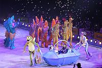 SAO PAULO, SP, 07.05.2014 - DISNEY ON ICE - Apresentaç!ao do espetáculo Disney On Ice,  Passaporte para a Aventura no Ginasio do Ibirapuera regiao sul da cidade de Sao Paulo nesta quinta-feira, 07. (Foto: Vanessa Carvalho / Brazil Photo Press).