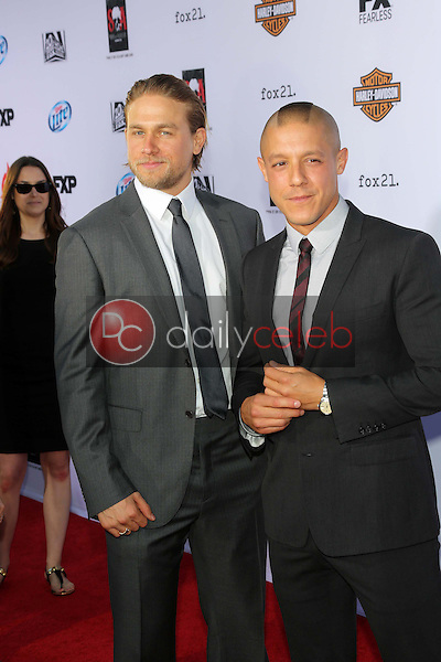 """Charlie Hunnam, Theo Rossi<br /> at the """"Sons of Anarchy"""" Season Six Premiere Screening, Dolby Theatre, Hollywood, CA 09-07-13<br /> David Edwards/Dailyceleb.com 818-249-4998"""