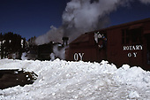 C&amp;TS rotary snowplow #OY powered by #484 and #488 on Cumbres Pass.<br /> C&amp;TS  Cumbres Pass, CO