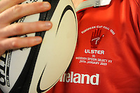The Ulster jersey for the charity match between the Ulster 1999 XV and a Wooden Spoon Select XV at Shaw's Bridge Belfast.  Mandatory Credit - Photo : Oliver McVeigh