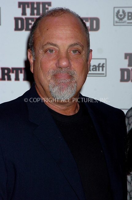 WWW.ACEPIXS.COM . . . . .  ....NEW YORK, SEPTEMBER 26, 2006....Billy Joel at the NY Premiere of 'The Departed'.....Please byline: AJ Sokalner - ACEPIXS.COM.... *** ***..Ace Pictures, Inc:  ..(212) 243-8787 or (646) 769 0430..e-mail: picturedesk@acepixs.com..web: http://www.acepixs.com