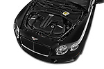 Car stock 2015 Bentley Continental GTC  Base 2 Door Convertible engine high angle detail view