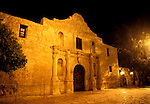 Texas: San Antonio, The Alamo at night, photo: txsana102  .Photo copyright Lee Foster, www.fostertravel.com, 510/549-2202, lee@fostertravel.com