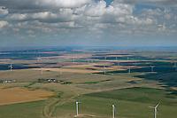 Windfarm north of Limon, Colorado. July 2014