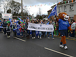 Ardee Rugby Club in  the Ardee St Patrick's day parade. Photo:Colin Bell/pressphotos.ie