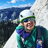 "Pictured: Lucy Foster at Yosemite National Park.<br /> Re: A British climber was killed and his wife seriously injured living their ""big dream"" on one of the toughest rock faces in the world.<br /> Andrew Foster, 32, and his wife Lucy, 28, were buried under tons of falling rock as they prepared for their climb.<br /> Experienced climber Andrew was killed but Lucy was rescued and airlifted to hospital where she was in a ""critical"" condition.<br /> The couple were married a year ago and the three-week trip to the Yosemite National Park in California was part of their first wedding anniversary celebrations.<br /> They had ben training for the expedition for six months and flew off to the States on September 11 along with other members of their climbing club.<br /> Andrew and Lucy, from Cardiff, were scouting out a descent of the iconic rockface El Capitan when a ""sheet"" of granite fell on them.<br /> Rangers on the national park beauty spot said a piece of granite 40 metres by 20 metres fell from a height of 200 metres while the couple were below.<br /> Patagonia, a company owned by Andrew Foster has confirmed the incident."