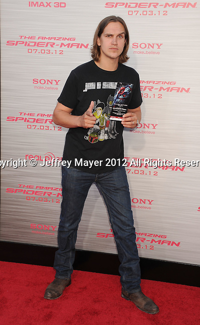 WESTWOOD, CA - JUNE 28: Jason Mewes arrives at the Los Angeles premiere of 'The Amazing Spiderman' at Regency Village Theatre on June 28, 2012 in Westwood, California.