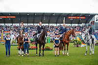 during the SAP Cup - CICO4*-S Nations Cup Eventing Prizegiving. 2019 GER-CHIO Aachen Weltfest des Pferdesports. Saturday 20 July. Copyright Photo: Libby Law Photography