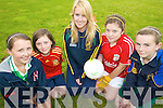 FUN: Enjoying the Na Gaeil GAA summer camp last Thursday were, l-r: Niamh Hurley, Maeve Horgan, Carol Carmody (Na Gaeil), Niamh Fitzgerald and Maureen Maher.    Copyright Kerry's Eye 2008